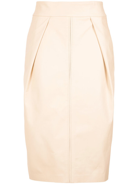Lilly Sarti - midi skirt - women - Leather/Polyester - 38, Leather/Polyester