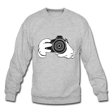 Photographer mickey hands (camera hands) sweatshirt
