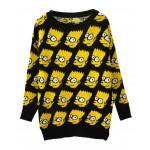 Bart simpson oversized sweater