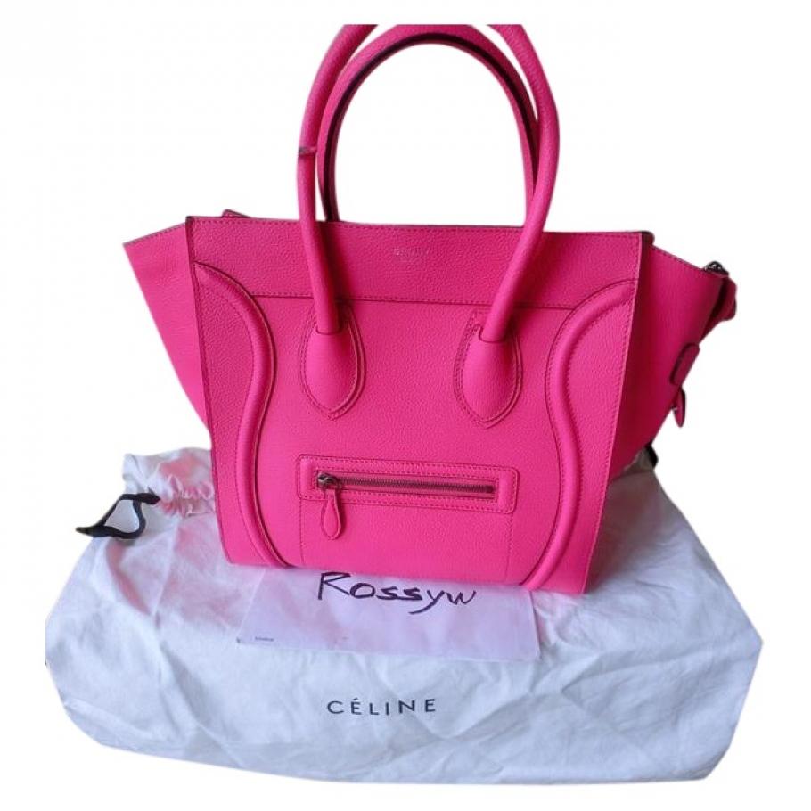 Mini luggage CELINE Pink in Leather All seasons - 743127