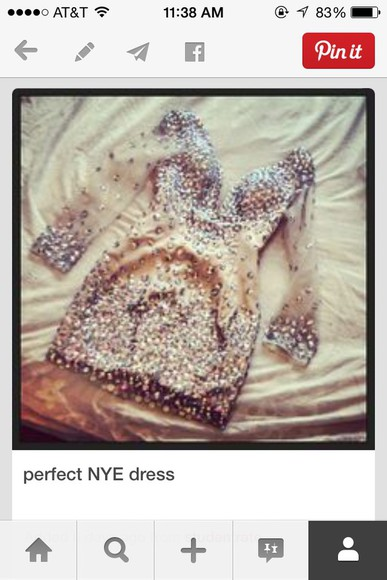 glitter dress dress nude prom after bash
