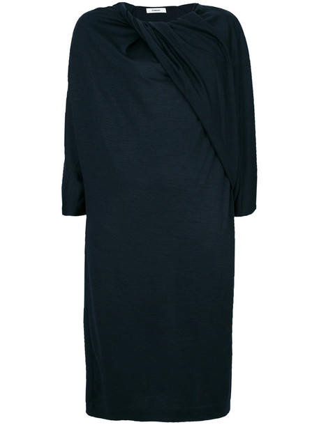Chalayan dress women blue wool