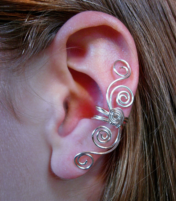 jewels ear cuff earrings ear bling silver ear wraps