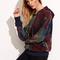 Multicolor tie dye print drop shoulder hoodie -shein(sheinside)