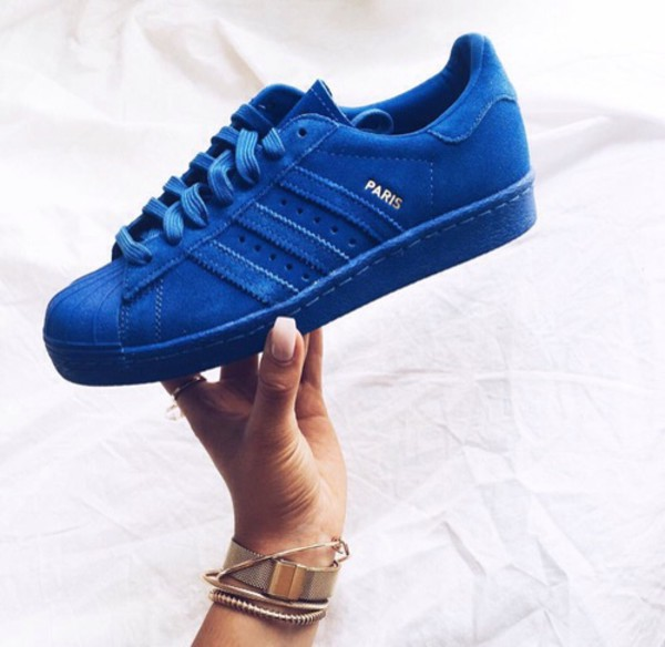 Amazon.com: Adidas Men's Superstar 80s City Series, PARIS-BLUE/GOLD: Shoes