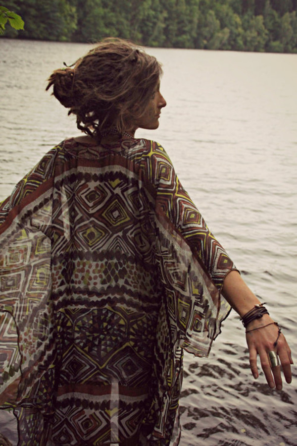 jacket hippie boho cardigan freedom pattern pattern