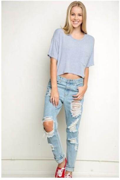 61df8ebd9c9 ripped denim light blue jeans in love mom jeans ripped jeans sopretty where  did u get