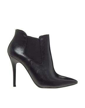 ALDO | ALDO Floivon Black Pointed Heeled Chelsea Boots at ASOS