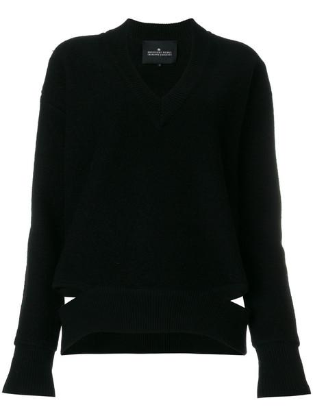 Designers Remix - Bailee V-neck sweater - women - Wool - XS, Black, Wool
