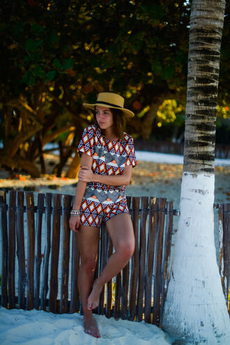 lovely pepa blogger top shorts hat jewels