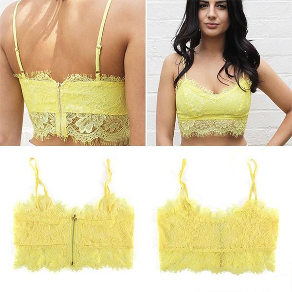 a89cbf16030 Hot New Sexy Women Lace Floral Unpadded Bralette Bralet Bra Bustier Crop  Top Cami Tank-in ...