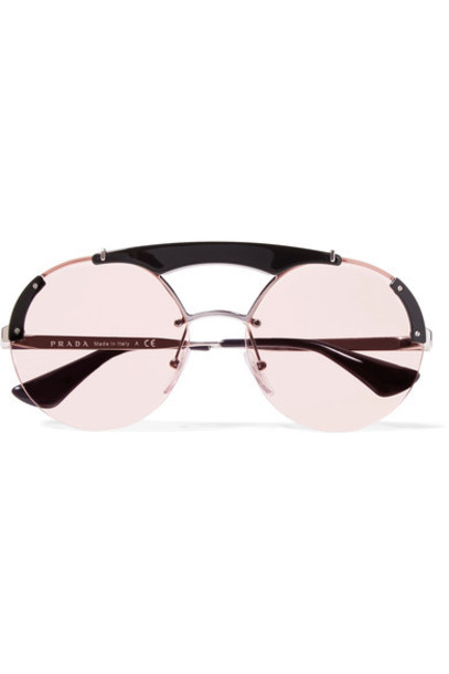 Prada sunglasses silver pink