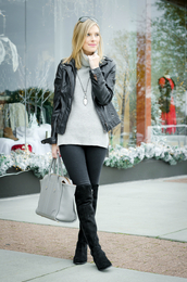 life with emily,blogger,sweater,jacket,bag,shoes,jewels