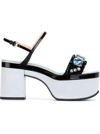 embellished sandals platform sandals black shoes