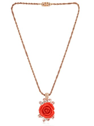rose pendant black jewels