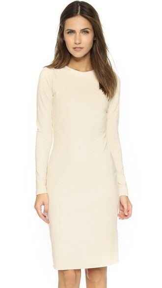 dress long sleeve dress long champagne