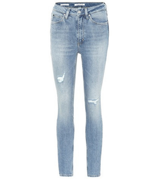 Calvin Klein Jeans High-waisted skinny jeans in blue