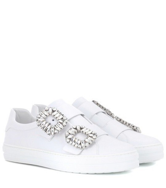 Roger Vivier sneakers leather white shoes