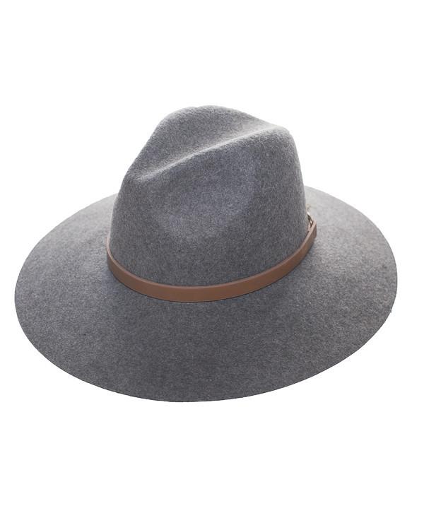 DUPREE Wool Fedora Hat in Grey at FLYJANE