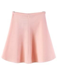 Pink high waist skater dress