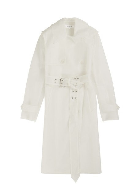 Helmut Lang coat trench coat white