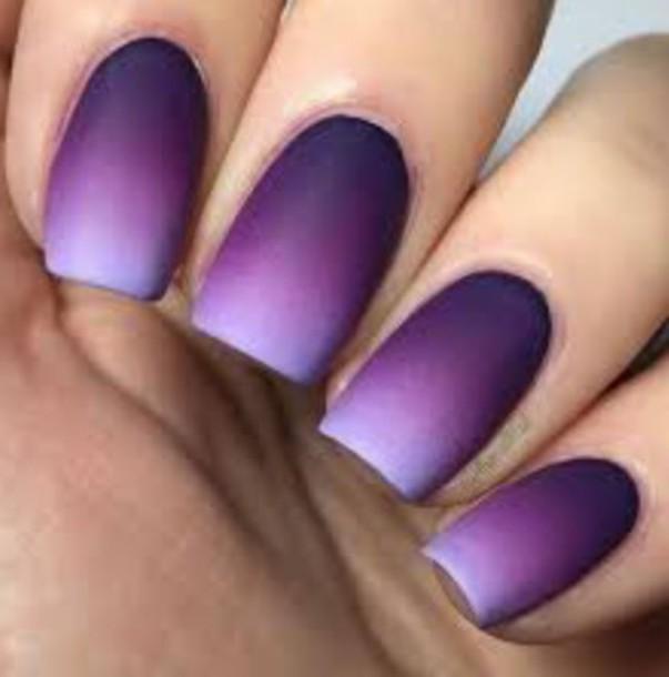 nail polish, purple, ombre, nails, lilac, lavendender, plum, violet ...