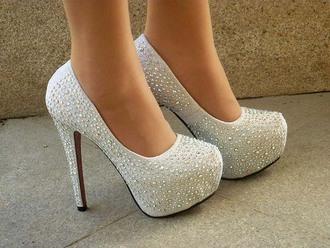 christian louboutin sparkly heels red bottom heels rhinestone white