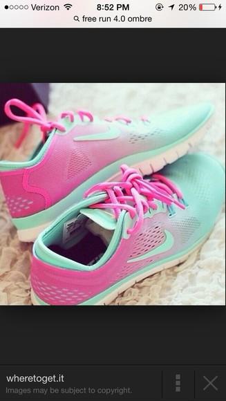 ombre nike running shoes free run nike women