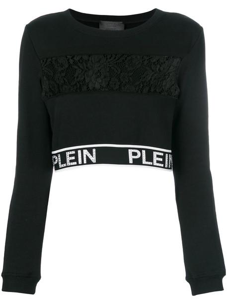 top women lace cotton black