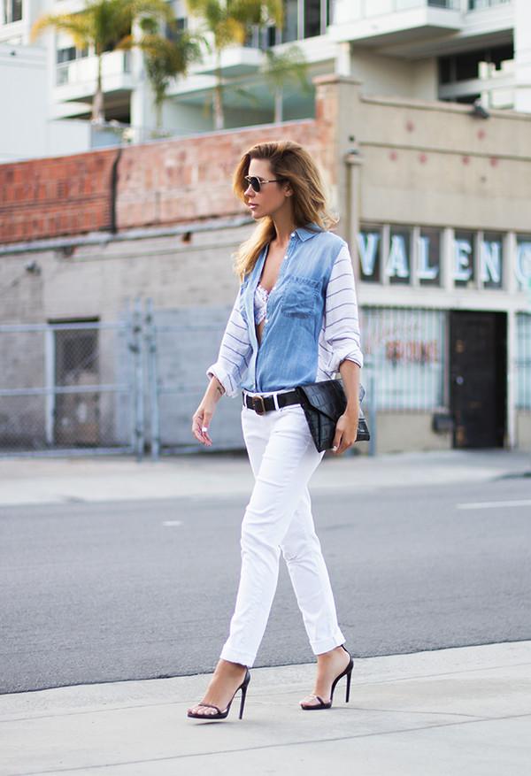 sunglasses t-shirt bag belt shoes