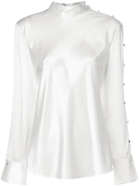 Rag & Bone top women white silk