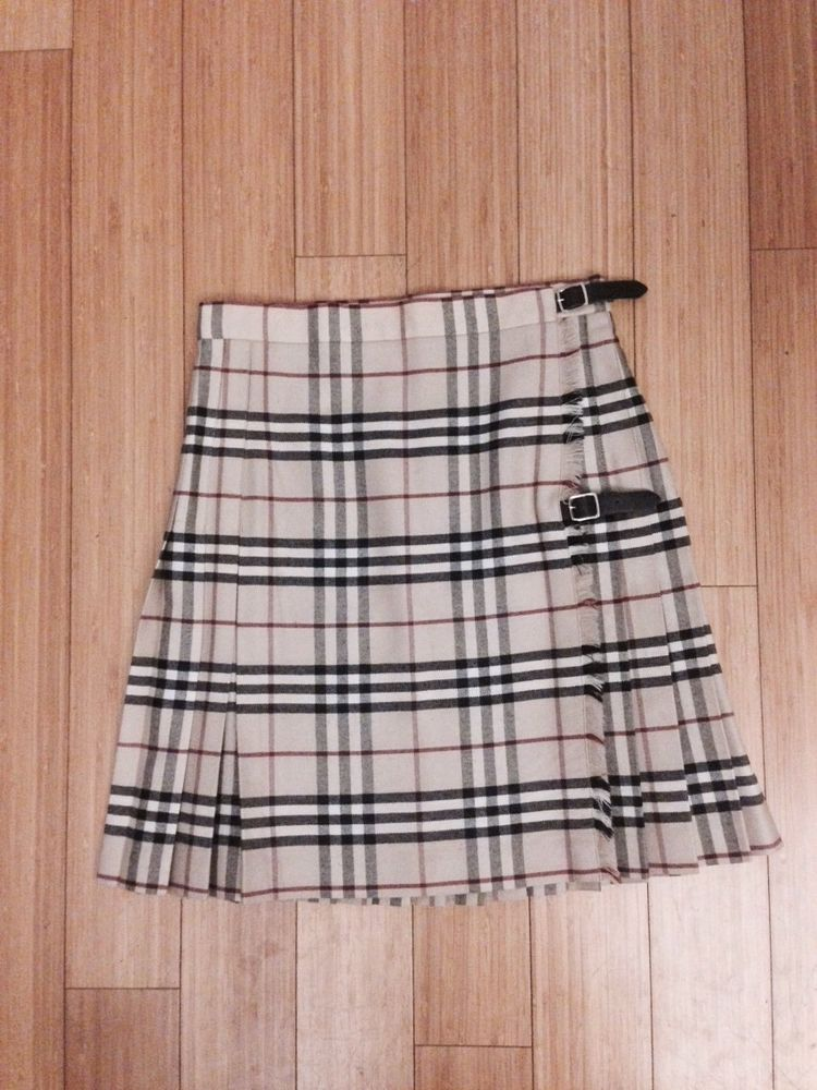 Line burberry london pure new wool kilt size uk 10 us 8