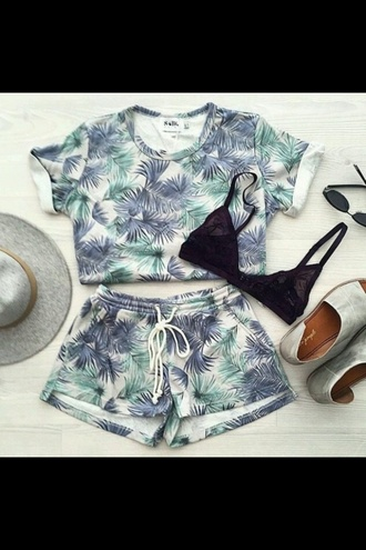 shorts pattern casual palm tree print summer shorts 2015 summer style