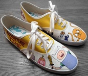 shoes,adventure time shoes,ice king,princess bubblegum,adventure time,finn the human,jake the dog,yellow
