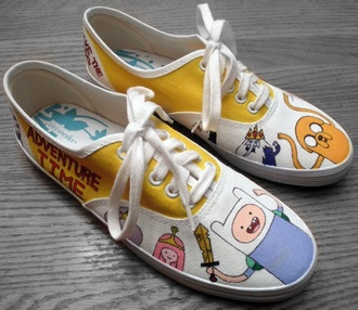 shoes adventure time shoes ice king princess bubblegum adventure time finn the human jake the dog yellow