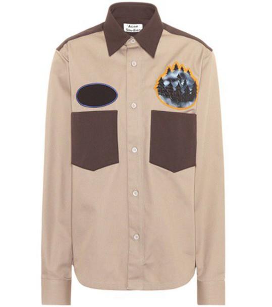 shirt seattle cotton beige top