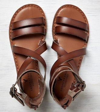 shoes dark brown tan sandals