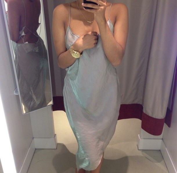 dress light dress blue dress see through dress midi dress light weight spaghetti straps dress long blue dress