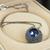 [grxjy5100312]Retro Rhinestone Sapphire Necklace
