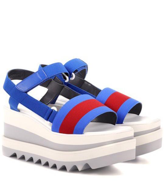 Stella McCartney sandals platform sandals blue shoes