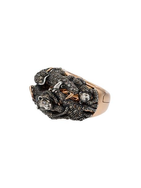 BIBI VAN DER VELDEN rose gold rose women ring gold silver grey metallic jewels