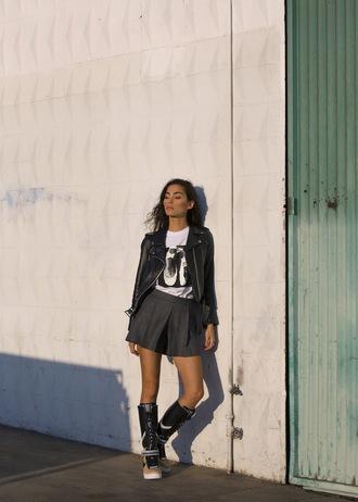sweat the style blogger jacket t-shirt