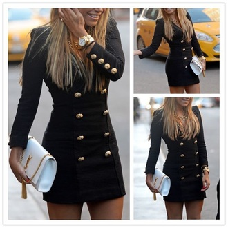 dress gold buttons jacket