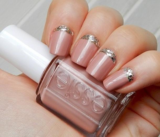 Nail Polish, Nails, Nail Polish, Pink, Gold, Essie