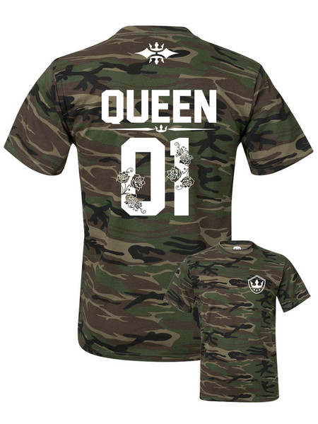 386019dc26 Camouflage QUEEN t-shirt ☆ SPECIAL EDITION ☆