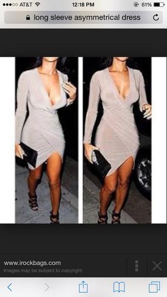 asymmetrical nude dress