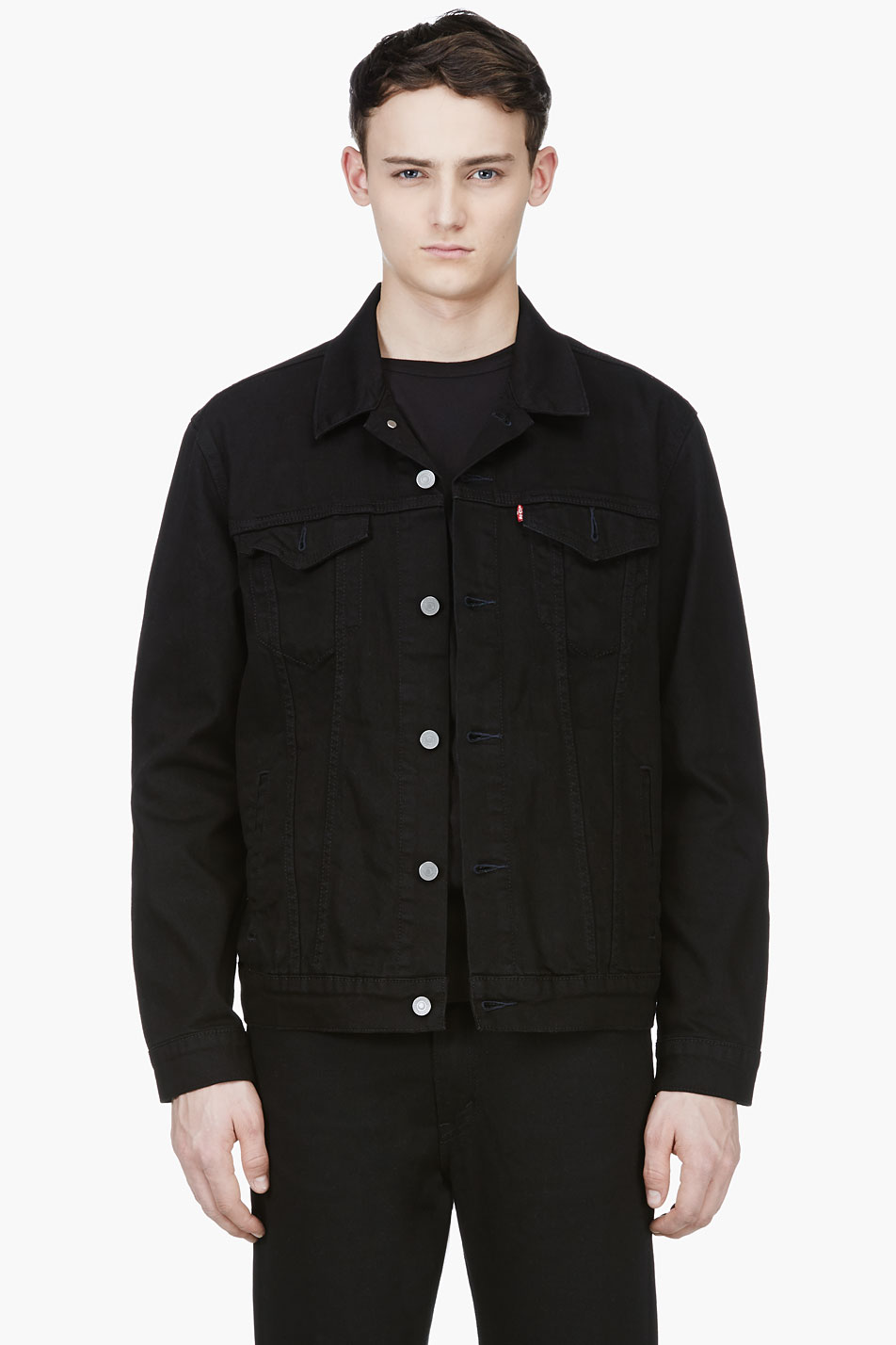 Levis black denim nightshine trucker jacket