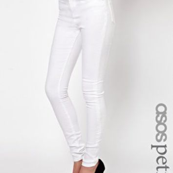 ASOS PETITE Ridley Supersoft High Waisted Ultra Skinny Jeans in White at asos.com on Wanelo