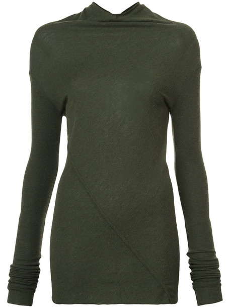 Rick Owens Lilies top knitted top women wool green