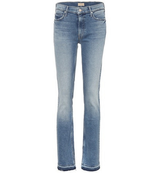 Mother The Rascal Slit straight jeans in blue